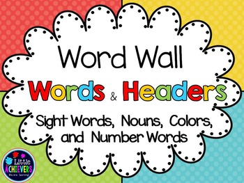 Word Wall Words and Headers