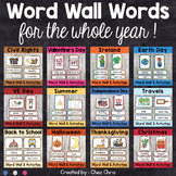 PRE-SALE - Word Wall Words for the whole school year - Gro