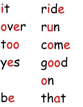 Word Wall Words for 1st Grade Treasures (2009)