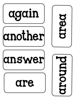 Word Wall Words for 2nd Grade
