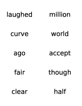 Word Wall Words for Storytown 2nd Grade