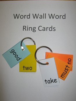 Word Wall Words on Ring