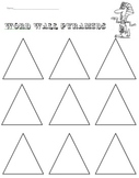 Word Wall Words or Spelling Pyramids