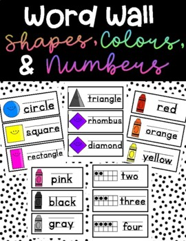 Word Wall Words- shapes, numbers, colors