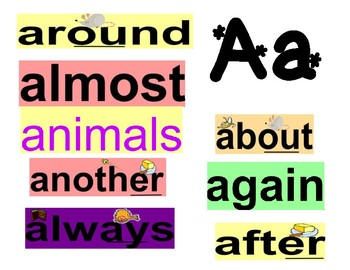 Free Word Wall Words with Phonemes