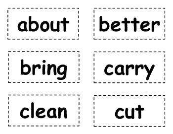 Word Wall Words/Dolch Sight Words {3rd Grade}