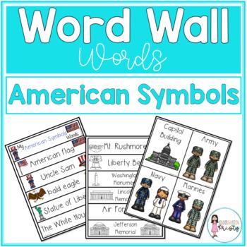 Word Wall Words_American Symbols