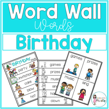 Word Wall Words_Birthday