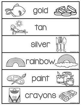 Word Wall Words_Colors