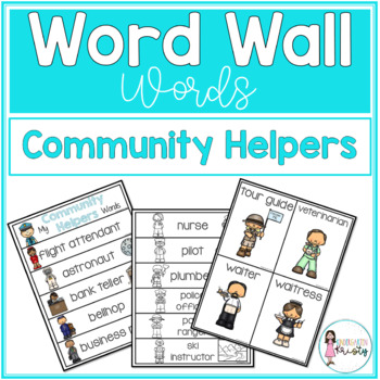 Word Wall Words_Community Helpers