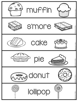 Word Wall Words_Desserts