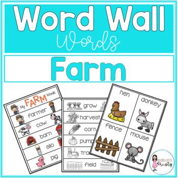 Word Wall Words_Farm