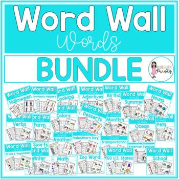 Word Wall Words_GROWING Bundle
