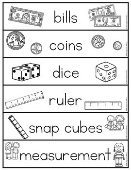 Word Wall Words_Math