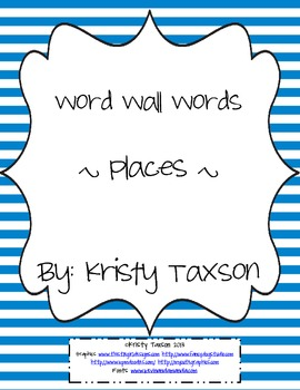 Word Wall Words_Places