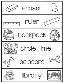 Word Wall Words_School