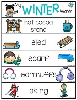 Word Wall Words_Winter