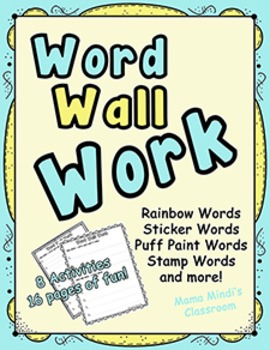 Word Wall Activities: Word Wall Work