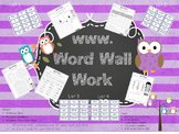 Word Wall Work Bundle 1