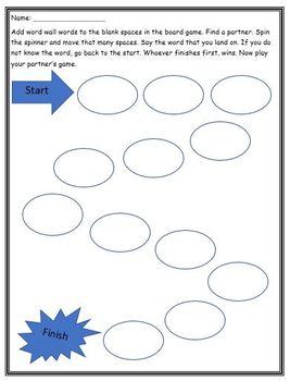 Word Wall Worksheets (Grade Two NO PREP)
