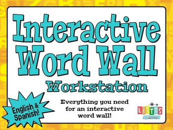 INTERACTIVE WORD WALL Workstation - English & Spanish