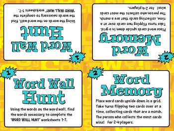 INTERACTIVE WORD WALL Workstation - English & Spanish