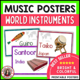 Music Posters of World Instruments: Music Classroom Decor