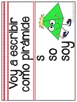 Word Wall Writing Activities Posters in Spanish