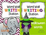 Word Wall Writing Stations: Halloween and Zoo Words
