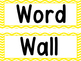 Word Wall Yellow Stitched Chevron And 200 Fry Words