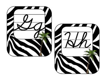 Word Wall - Zebra Print