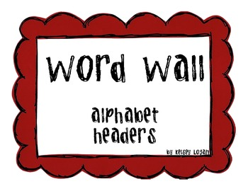 Word Wall- alphabet headers