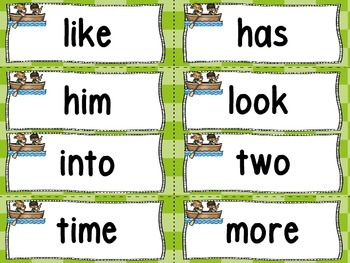 Word Wall and 100 Fry Words -Camping Theme
