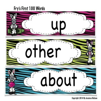 Word Wall and Alphabet (300 words from Fry's High Frequency Word List)