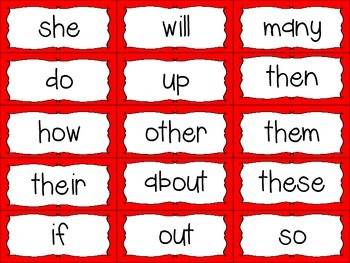 Word Wall Letters with Red Polka Dot Background and First 300 Fry Sight Words
