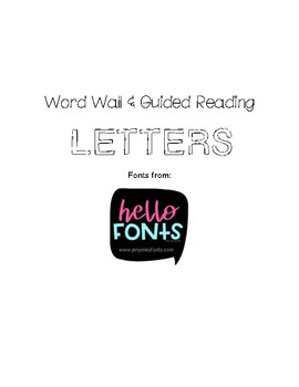Word Wall and Book Bin Guided Reading Labels