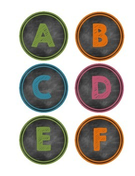 Chalkboard Word Wall and Book Bin Labels