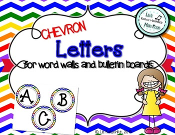 Word Wall and Bulletin Board Letters: Chevron