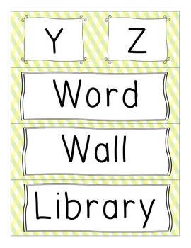 Word Wall and Library ABC