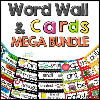 Word Wall: Word Wall and Tracing Bundle
