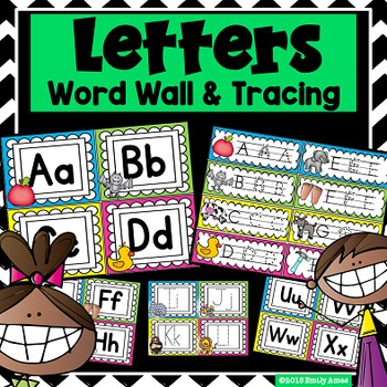 Word Wall and Tracing:  Letters