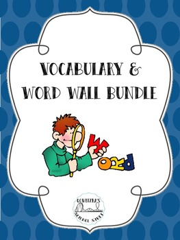 Word Wall and Vocabulary Bundle