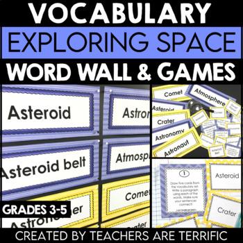 Exploring Space Vocabulary
