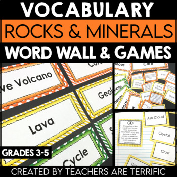 Rocks, Minerals, and Volcanoes Vocabulary