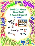 Word Wall and Word Crowns with Pictures: Dolch 1st / First Grade