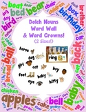 Word Wall and Word Crowns with Pictures: Dolch Nouns