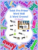 Word Wall and Word Crowns with Pictures: Dolch Pre-Primer/