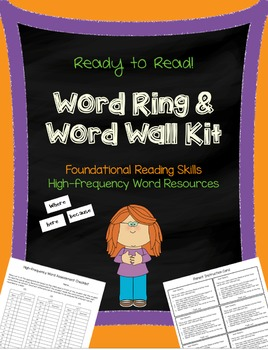 Word Wall and Word Ring Kit - Learning Our High-frequency Words!