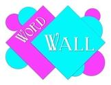 Word Wall bulletin board 2-tone. Print and hang!
