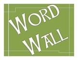Word Wall bulletin board green